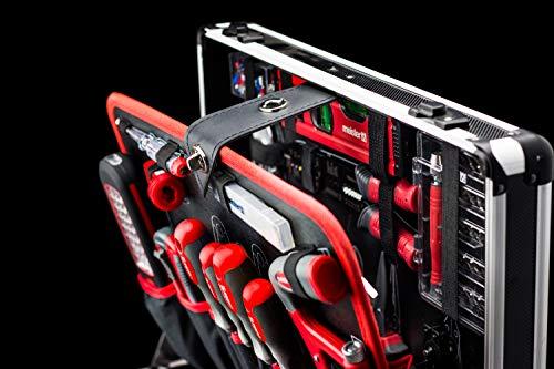 Meister Werkzeugtrolley 156-teilig ✓ Werkzeug-Set ✓ Mit Rollen ✓ Teleskophandgriff | Profi Werkzeugkoffer befüllt | Werkzeugkiste fahrbar auf Rollen | Werkzeugbox komplett mit Werkzeug | 8971440 - 8