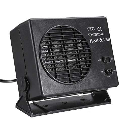 YUJIADODIAN 150W / 300W 2- Interruptor en 1 Calentador de cerámica Calentador de calefacción Calentador Calentador Defroster Demister Fan Rishing 0909