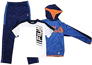 Fila Boys Athletic Logo 3 Piece Activewear Hoodie and Pants Set