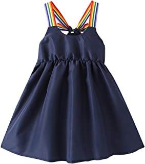 Summer Toddler Baby Girls Sleeveless Solid Print Dress Vest Dresses Clothes
