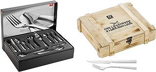 Zwilling Ménagère Nottingham, inox 18/10, mat, Acier inoxydable, 68 pièces & 07150-359-0 Set Couverts à viande Acier Inoxy...