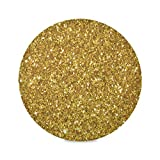 MochaDD Round Placemats Gold Placemats Gold Glitter Sparkling Placemats Place Mat Set of 6 Table Mats 15.4 inch for Kitchen Dining Table Holiday Party