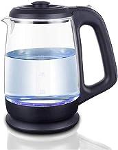 Huishoudelijke elektrische waterkoker roestvrij staal 1.5L blauw transparant glas waterkoker/Quick Kook Tea Jug, droge bes...