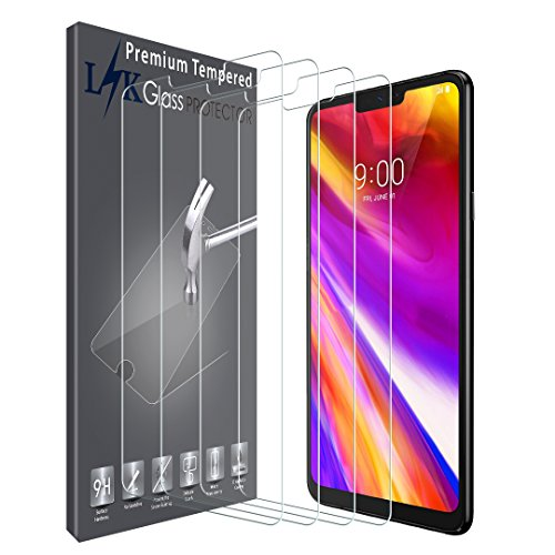 [4 Pack] LK Screen Protector for LG G7 ThinQ, [Tempered Glass] 9H Hardness, Anti Scratch