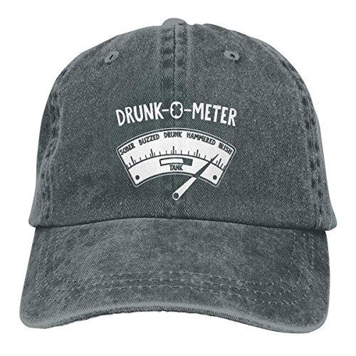 RFTGB Gorras Unisex Accesorios Sombreros Gorras de béisbol Sombreros de Vaquero Drunk O Meter Denim Baseball Cap, Unisex Vintage Dad Hat, Golf Hats, Adjustable Plain Cap