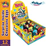 Yowie Surprise Inside Chocolate Egg | Easter Prize | Wild Water Series 5 | Box of 12 Eggs w/ Collectible Animal Toys | Fun for All Ages and Genders