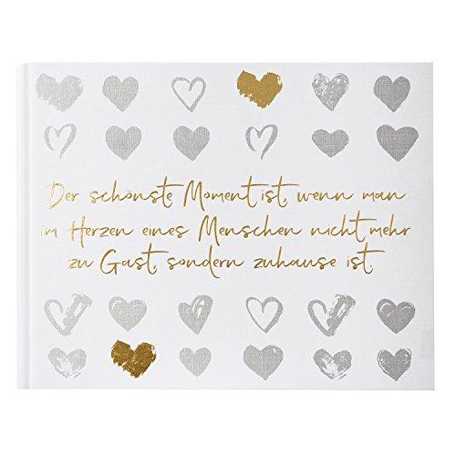 Goldbuch Foto-Gästebuch, Love Memories, Mit verdeckter Spiralbindung, 50 weiße Seiten, 29 x 23 cm,...