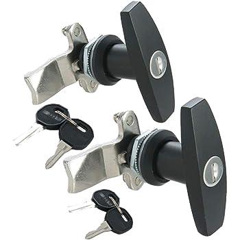 Black T-Handle Garage Door Lock 77mm lock handle garage door latch