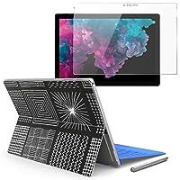 igsticker Surface pro6 pro2017 pro4 専用スキンシール ガラスフィルム セット 液晶保護 フィルム ステッカー アクセサリー 保護 050833