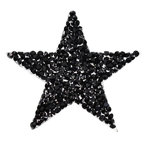 Kesheng Parche Estrella Termoadhesivo con Diamantes de Imitación para Ropa y Bolso
