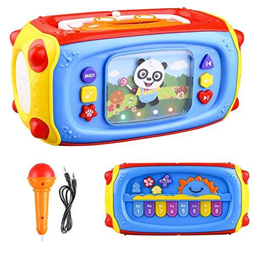 ARANEE Musikwürfel Lernenspielzeug Lernspielzeug mit Lichtern und Liedern, Baby Spielzeug ab 6 Monaten,Activity Center Baby