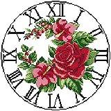 LLXJLUCKY Juego de punto de cruz para principiantes, 11 hilos, punto de cruz en relieve, bordado de rosa, punto de cruz, accesorios, artesanía, regalo para decoración del hogar, 40,6 x 50,8 cm