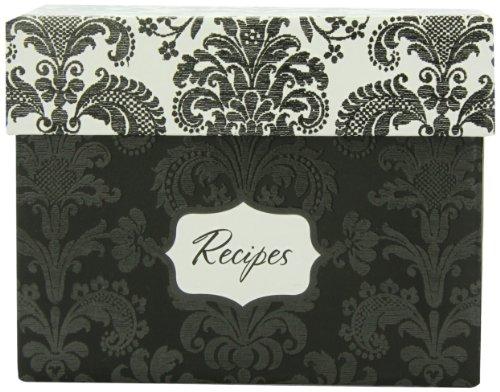 Hortense B. Hewitt Wedding Accessories Damask Recipe Box Bridal Shower Invitation Gift Set