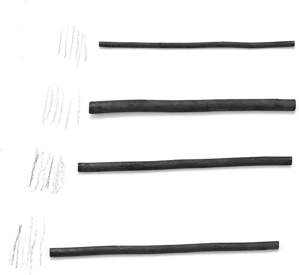 25 piezas de palos de carb/ón artista Willow Vine Sketch palos de carb/ón bosquejo l/ápices de carb/ón para dibujar 7330