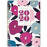 AT-A-GLANCE 2020 Planificador semanal y mensual, 5-1/2' x 8-1/2', pequeño, insignia floral (5282F-200)