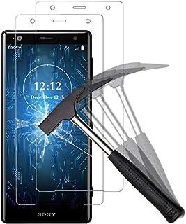 【2枚セット】Xperia XZ2 Premium ガラスフィルム【日本製旭硝子採用】最大硬度9H/高透過率/3D Touch対応/3Dラウンドエッジ加工/指紋防止/気泡ゼロ/貼り付け簡単【Xperia XZ2 Premium/クリア】