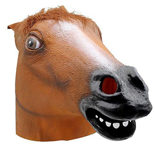 BIGBOBA Feste in Maschera da Halloween/Carnevale,Forma di Testa di cavallo maschera animale lattice