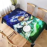 PVC Waterproof Oil-Proof Reusable Tablecloth Dragon Brothers-Genji-Hanzo Rectangular Tablecloth Washable Table Cover for Kitchen Restaurant Camping 60'x90'