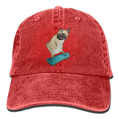 deyhfef Mens Women's Hiphop Cap,Skateboard Dog Denim Fabric Hat Men Girl Unisex Multicolor57