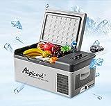 Alpicool - Nevera congelador portátil eléctrica con compresor para automóviles, camiones y caravanas, ideal para ir de viaje, pesca, pícnic, camping, uso exterior 12/24 V CC, 15l
