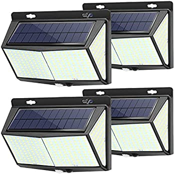 4-Pack Welvan Solar LED Exterior Wall Light