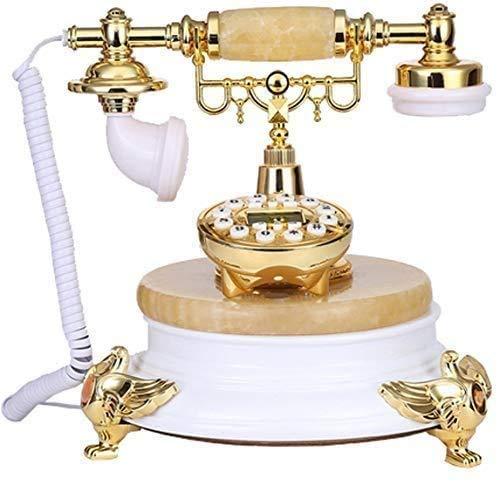 AWAING Telefonos Antiguos Vintage Teléfono de Escritorio clásico y Antiguo con pulsador para el hogar y la Oficina