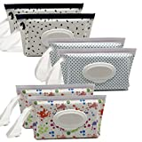 Portable Wet Wipe Pouch Reusable & Refillable Baby Wipes Dispenser, Eco Friendly and Light...
