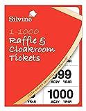 Robinson Young - Boletos para sorteo numerados del 1 al 1000 (6 unidades), multicolor