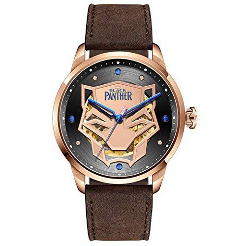 BLL Hohle automatische mechanische Uhr des schwarzen Panthers, wasserdichte Armbanduhr der Art und Weisepersönlichkeitstendenz der Männer Darkbrown