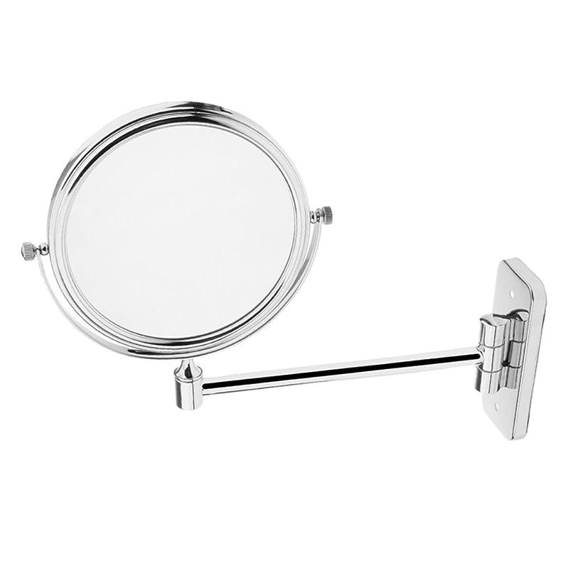 通信網ええ帰るBaosity 壁付けミラー 3倍拡大鏡+等倍 両面鏡 化粧鏡 伸縮可能 360度回転 折りたたみ ホテル ホーム 洗面所 全2サイズ - 6インチ