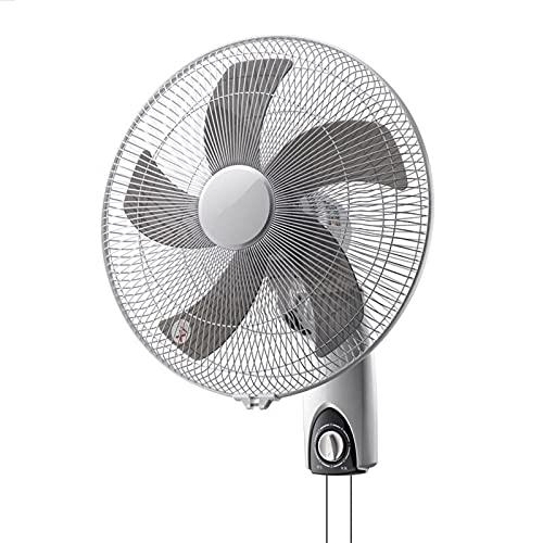 DBGA Ventiladores de Pared, Ventilador Oscilante de Montaje en Pared, Ventilador de Pared con Control Remoto, Funcionamiento Silencioso, para Dormitorio, Hogar, Cocina