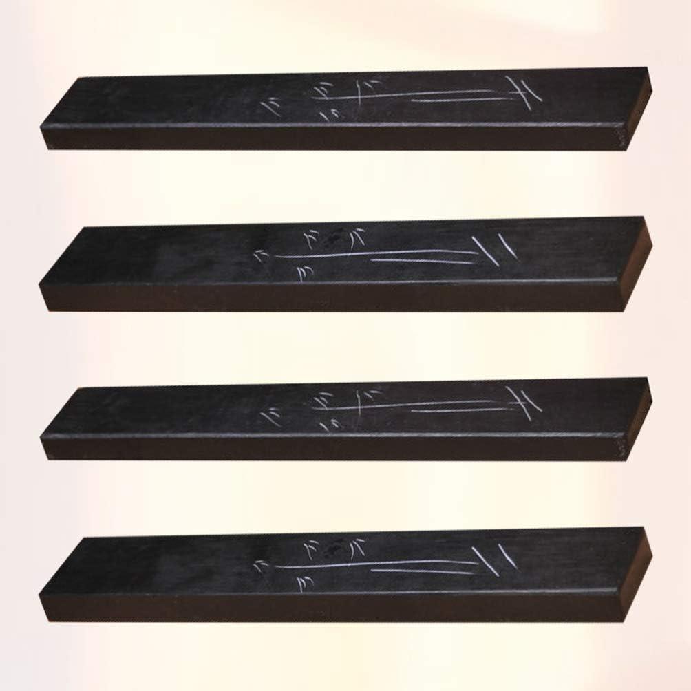 STOBOK 4 Piezas Caligraf/ía Tinta Piedra Pisapapeles Chino Suministros de Pintura China Herramienta de Caligraf/ía de M/ármol para El Hogar de La Oficina de La Escuela
