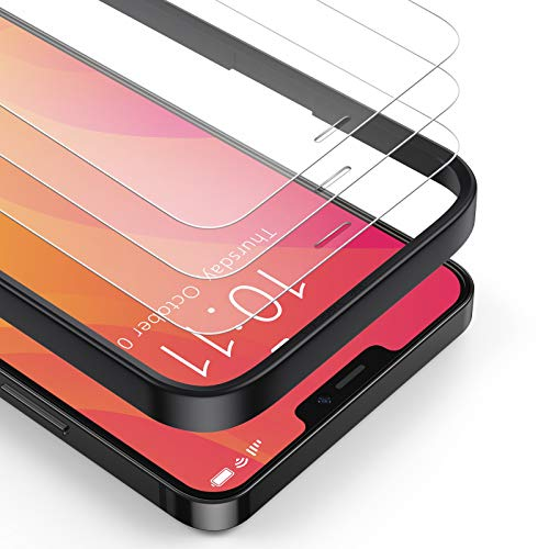 BANNIO (3 Packs) Screen Protector Compatible with iPhone 12 Mini (5.4 Inch),Premium HD Clarity 0.25mm Tempered Glass Screen Protector (Guidance Frame Include),Full Screen Protection film,Clear