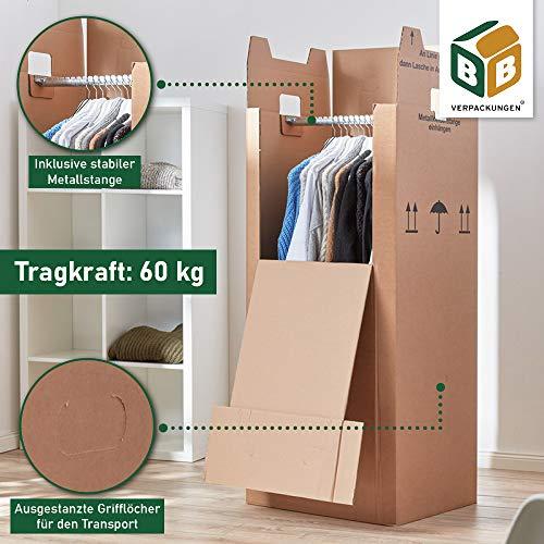 3 x Kleiderbox mit Stange - 5