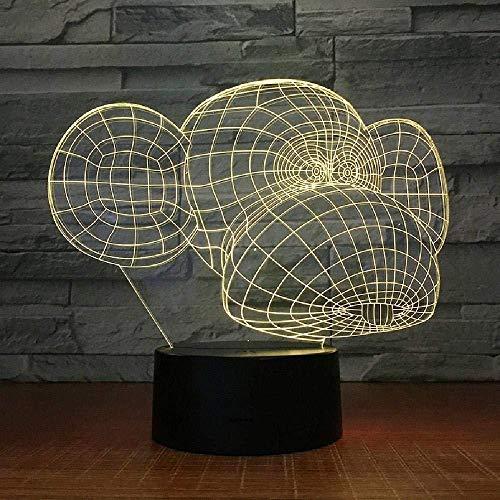 3D Night Light Coon Monkey Interest s 7 Colors Sensor Room Decoration Bedroom Lights Led Night Lights for Children Kids Baby