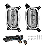 Yctze Daytime Running Lamp Daylight Driving Fog Lights LED Vehicle Modification Compatible With 12V Kia Seltos 2020 2021 (2pcs)