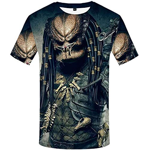 3D Digital Printing Men's T-Shirt Short Sleeve Round Neck Casual Top