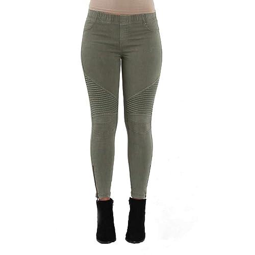 Womens Denim Jeans Imitation Stretch Slim Fit For Workout Leggings Pencil Angel