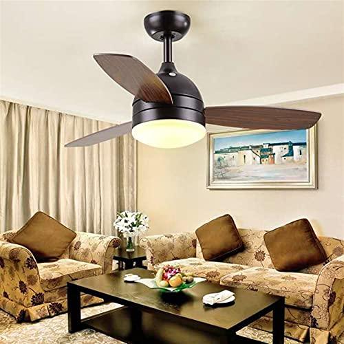 DSLK Led Ventilador De Techo Ventilador Luz Dormitorio Sala De Estar Comedor Ventilador Lámpara Ventilador De Techo (Blade Color : Coffe 42inch, Voltage : 220V)