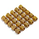 LTWFITTING1/4-Inch Brass Compression Nut,Brass Compression Fitting(Pack of 25)...