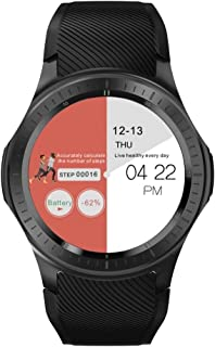 Smart Watch DM368 Plus 1.3 inch IPS Screen, 1GB +16GB, Support Heart Rate Monitoring/Pedometer/Multi-Sport Mode/Independent Card Call Brand:TONW. (Color : Black)