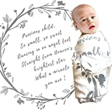 Baby Swaddle Blanket with Baby Quote - 100% Organic Cotton Muslin...