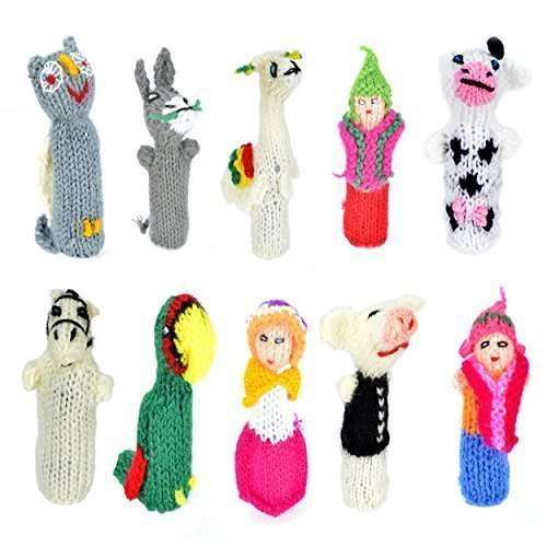 500 Peruvian Assorted Finger Puppets Marionetten & Handpuppen