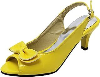 JOJONUNU Women Peep Toe Pumps Shoes