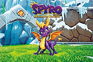 Spyro Reignited Trilogy 2018 Game Dragon Cover Poster Hot No Frame (36 X 24 (Horizontal))