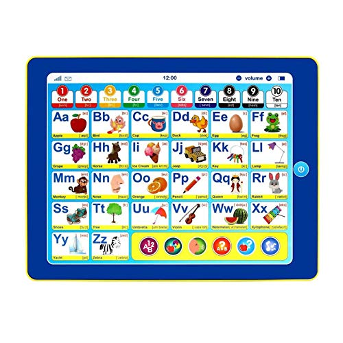 AIHOME Tableta de aprendizaje para niños con 6 juegos de aprendizaje infantil temprano juguete de desarrollo para aprendizaje de números, aprendizaje ABC, ortografía, juguete educativo