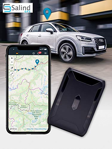 SALIND GPS-Tracker Auto, Motorrad, Fahrzeuge und LKW´s mit Magnet, etwa 40 Tage Akkulaufzeit (bis zu 90 Tage im Standby Modus)