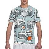 Zhgrong Camisetas de Hombre Cámara 1 Camisetas de Manga Corta atléticas para Hombre Camiseta con Cuello Redondo