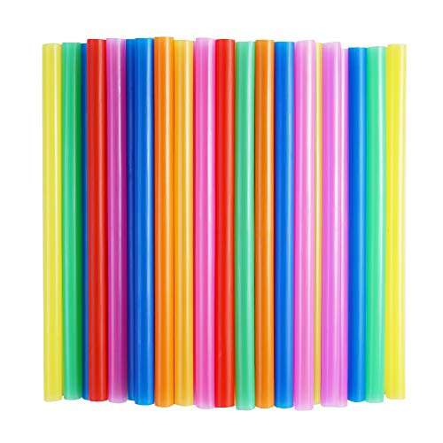100 Pcs Jumbo Smoothie Straws,Colorful Disposable Wide-mouthed Large Straw.