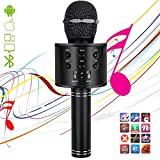 Image of Microphones for Kids Wireless Bluetooth Microphone,Portable Handheld Toy Karaoke Mic Speaker Machine, Home KTV Player with Record Function, Compatible with Android iOS Devices(Black)